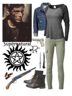 """""""DEAN! Thank Goodness Your Ok! What Happen?"""" by alyssaclair-winchester ❤ liked on Polyvore featuring J Brand, rag & bone/JEAN, LE3NO, MUSTANG, supernatural and DeanWinchester"""