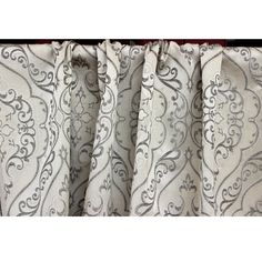 Grey Elegance Grommet Blackout Lined Curtain in by FabricMart