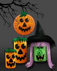 DIY Halloween : DIY Halloween Yarn Crafts from Red Heart Yarn  DIY Halloween Decor