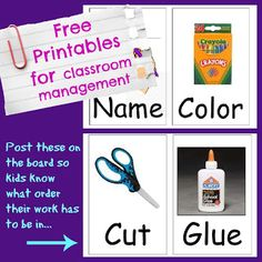 Free behavior and classroom management ideas, resources and printables.  #1stgrade #kindergarten #prek #behaviormanagement