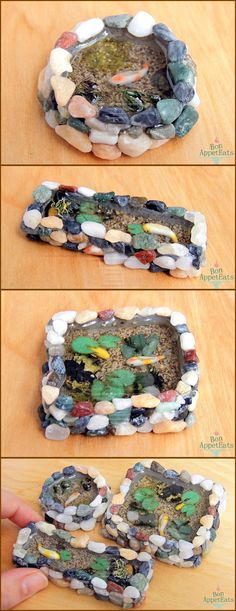 Miniature Koi Ponds, Set 1 by Bon-AppetEats.deviantart.com on @deviantART