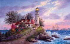 Раскраски по номерам дивный маяк