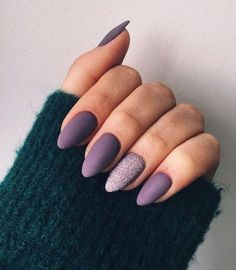 33 Gorgeous fall nail art design Ideas that perfect for any occasion - autumn na. Nägel Ideen Herbst 33 Gorgeous fall nail art design Ideas that perfect for any occasion - autumn na. Fall Nail Art Designs, Beautiful Nail Designs, Autumn Nails, Winter Nails, Fall Almond Nails, Matte Almond Nails, Matte Purple Nails, Matte Gel Nails, Matte Nail Polish