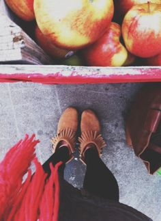 Apple orchard style in a pair of Double Fringe Side Zip Boots
