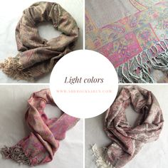 Presenting the sherocksabun Thai Pashmina collection! A beautiful collection of infinty scarves with zippered pockets. Light Colors, Rocks, Outfits, Collection, Fashion, Moda, Suits, Fashion Styles, Bright Colours