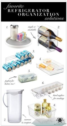Jan 16, 2019 - Tackle your kitchen in no time with these Top 9 Refrigerator Organization Solutions and an Organized Fridge as inspiration!#kitchendecor Organisation Hacks, Kitchen Organisation, Organization Station, Container Organization, Kitchen Storage, Diy Kitchen, Kitchen Ideas, Kitchen Hacks, Dollar Store Organization