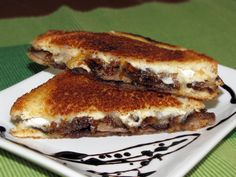 Grown Up Grilled Cheese: Brie, Steak and Caramelized Onion with Balsamic Reduction