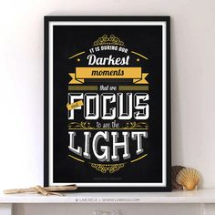 It is during our darkest moments that we must focus to see the light. - Aristotle Onassis  #inspirational #motivational #quote #thought #moment #focus #light #aristotle #onassis