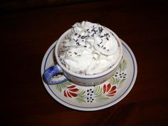 Lavender Lover's Hot Chocolate - To cut calories in half, make this cup half coffee and half hot chocolate which I do when I need a quick, feel good pick-me-up in the afternoon.