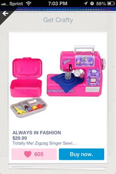Great toys-r-us product for beginning sewing