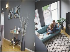 A darling couple's first home together - http://fabyoubliss.com/2014/08/26/justine-and-ians-first-home-together