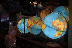 Illuminated world globes make a good nightlight.