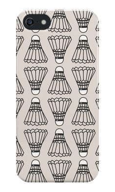 Badminton Shuttlecock Pattern iPhone 5s case