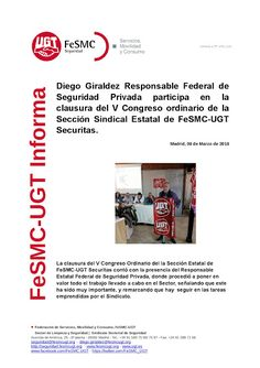 SECCIO SINDICAL UGT SECURITAS CATALUNYA: Diego Giraldez Responsable Federal de Seguridad Pr...