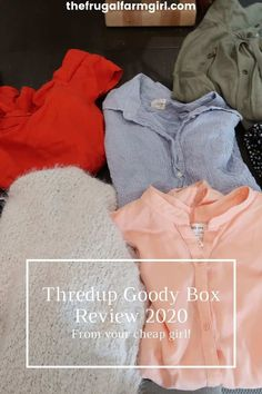 What's a Goody Box? This is the name of Thredup surprise box of fashion. After answering a few questions on their website to get to know your style needs. I tried the box again in 2020 and here's how it went. Ways To Save Money, Money Tips, Money Saving Tips, Living Within Your Means, Mini Pigs, Surprise Box, Frugal Living Tips, Consignment Online, Getting To Know You