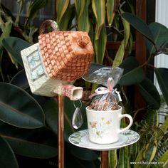 Repurposed Teapot Teacup House Bird Feeder by ARTfulSalvage