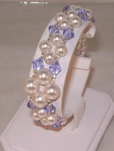 Swarovski Crystal and Pearls Jewelry  Bridal by kippyskreations, $25.00