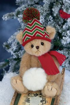 Sammy Shivers 173220 From Bearington Bears Collection Stuffed Animal for sale online My Teddy Bear, Cute Teddy Bears, Bear Toy, Christmas Teddy Bear, Bear Pictures, Boyds Bears, Love Bear, Cool Toys, Crafts