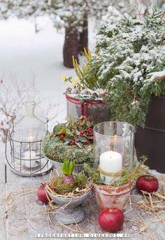 ihanainen talvi kattaus ulkona ❄