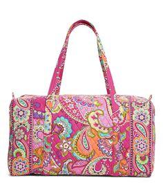 Look at this #zulilyfind! Pink Swirls Large Duffel Bag by Vera Bradley #zulilyfinds