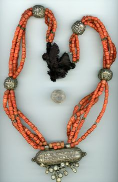 Antique Yemen Bedouin coral silver necklace by atribalmuse on Etsy, $1700.00 ~~S~O~L~D~~