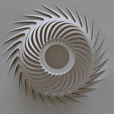 Risultato immagini per kirigami dome half Origami And Kirigami, Origami Paper Art, Diy Paper, Paper Crafts, Folding Architecture, Paper Engineering, Paper Folding, Paper Models, Paper Cutting
