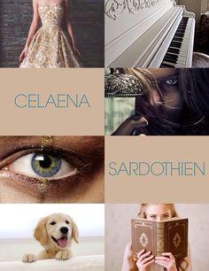 Celaena Sardothien, Aeiln Ashryver Galathynius, Aelin ohnivé srdce, královna Terrasenu, Elentiya, Lady Lillian Gordain, Královna vrahů, Adarlandský zabiják,nájemná vražedkyně, zabiják čarodejnic,  sestřenice Aediona