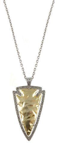 LARGE GOLD DEMETER ARROWHEAD NECKLACE – Tat2 Designs
