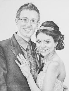 Rachel + Matt | Melissa Helene Fine Arts + Photography 11x14 graphite portrait www.melissahelene.com #portrait #artwork #graphite #couple #wedding