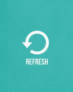 Refresh - 11x14 Print - modern typography print art life inspirational quote poster relaxing phrase poster yoga. $22.00, via Etsy.