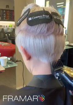 Undercut Hairstyles Women, Short Hair Undercut, Pixie Hairstyles, Short Haircuts, Funky Short Hair, Super Short Hair, Hair Cutting Techniques, Hair Cutting Videos, Short Hair Lengths