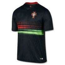 Portugal national team 2015 Away Black Jersey [B40]