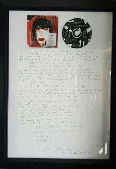 Joseph Arthur - In The Sun signed lyrics
