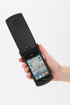 iPhone flip phone case. Just in case you feel like downgrading... or warding off any smartphone thieves.