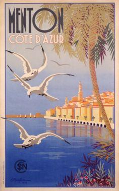 Menton poster by Beglia