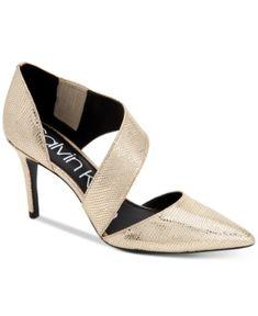 6f5f987d84ea Calvin Klein Women s Gella Dress Pumps - Gold 7.5M Gold Pumps