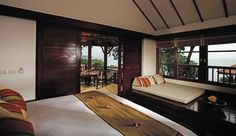 Napasai  Lavish suites start at more than 600 square feet, like this Seaview Villa, which has a balcony.