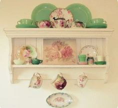 Vintage white  kitchen .. Beautiful colors