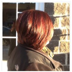 Red Haircolor, Cut, & Style by Hair Trendz Stylist Dina #haircolor #copperhue #redhair