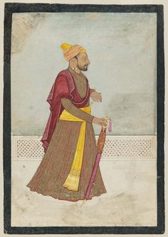 Sri Raja Govardhan Chand of Guler. ca. 1770 by Nainsukh