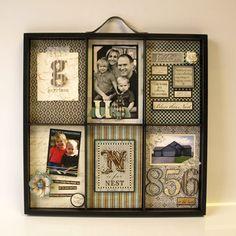 Vanhoja pääsiäiskortteja ja lasten piirrustuksia voi kierrättää vaikkapa tähän tyyliin.
