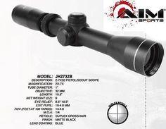 Pistol Scopes 66828: Aim Sports 2-7X32 Ler Pistol Scope Fits Weaver Rails W-Rings Brand New! -> BUY IT NOW ONLY: $47.44 on eBay!