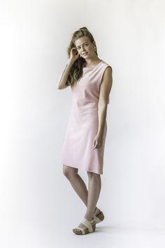Ariel Midi Dress  - Rose Quartz