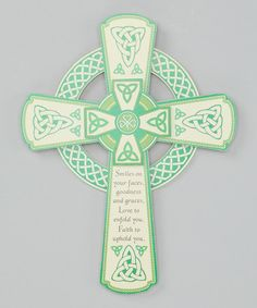 Take a look at this Irish Wall Cross by Roman, Inc. on #zulily today!