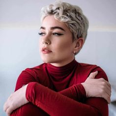 Best Short Pixie Haircut And Color Design For Cool Woman Short Curly Pixie, Short Brown Hair, Short Hair Cuts, Short Curls, Thick Hair, Pixie Bob Haircut, Short Pixie Haircuts, Hairstyles Haircuts, Hairstyles Pictures