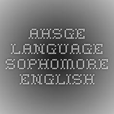 AHSGE - Language - Sophomore English