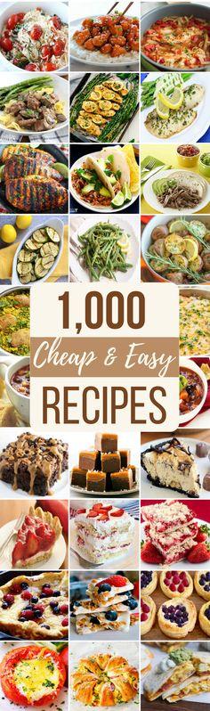 1,000+ Cheap & Easy Recipes