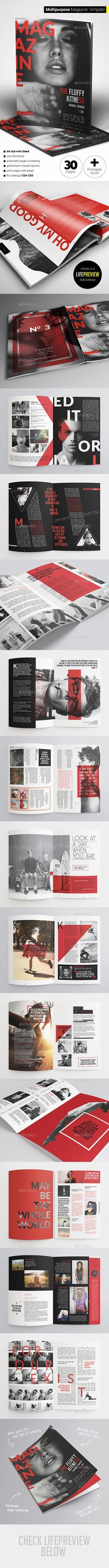 30 Pages Multipurpose Magazine Template #design Download: http://graphicriver.net/item/30-pages-multipurpose-magazine/11881489?ref=ksioks