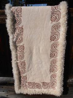 Svensk fell Sheepskin Rug, A30, Scandinavian, Folk, Interiors, Blanket, Rugs, How To Make, Inspiration