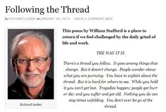 'Following the Thread' by Richard Leider on Restart Retirement - Click to read the full article